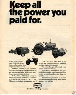 1971 Texaco Motor Oil Ford 8000 New Holland Tractor Ad
