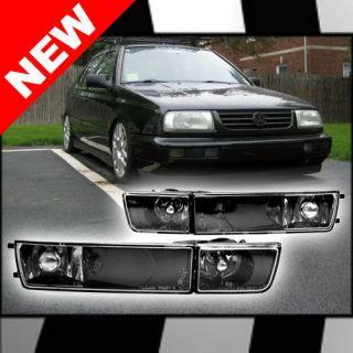 93 99 VW GOLF/JETTA MK3 ECODE BLACK FOG LIGHTS / TURN SIGNALS (Fits