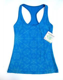 NWT GREEN APPLE ACTIVE WS Printed RACERBACK Yoga TANK TOP Bamboo S M