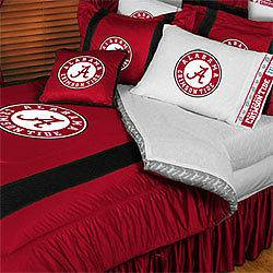 NCAA ALABAMA CRIMSON TIDE Full Queen Bed COMFORTER SET