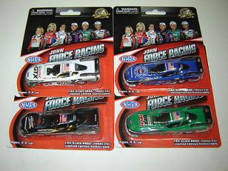 2012 FOUR CARS OF JOHN FORCE RACING FUNNY CARS 1/64 ALL NEW IN PACKAGE