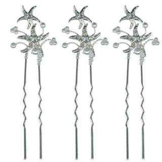 Kirks Folly Starfish Bridal Set Of 3 Hair Pins RRP £21.22
