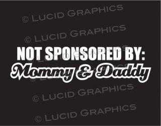 By Mommy & Daddy Vinyl Decal Sticker VW BMW JDM Car Truck Funny