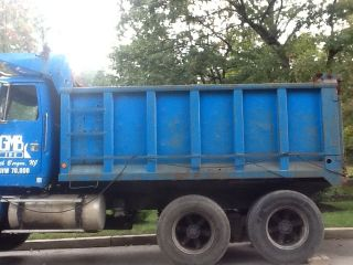 14 Ft Steel Dump Truck Body Bed Box 1996 Volvo Autocar