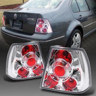 VW JETTA BORA IV CHROME CLEAR TAIL LIGHTS PAIR (Fits Volkswagen Jetta