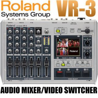 Roland Edirol VR 3 USB 4 Channel Audio Video Mixer Switcher FREE 2 DAY