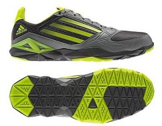 New Adidas Mens adizero F50 Trainer Shoes Black Gray Yellow