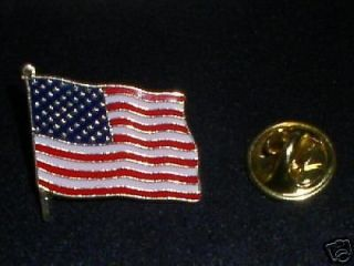 AMERICAN FLAG LAPEL PIN   QUALITY JEWELRY ITEM