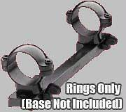 NEW Leupold Quick Release 1 Rings Scope Mount Rings Low Silver 49972
