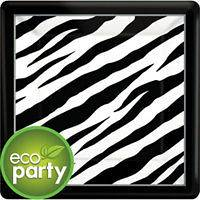 BLACK & WHITE ZEBRA ANIMAL PRINT Birthday Party Supplies ~ Pick Only
