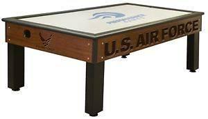 United States Air Force Air Hockey Table   Traditional Mahogany