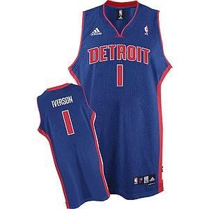 NBA Detroit Pistons Allen Iverson Basketball Swingman Jersey