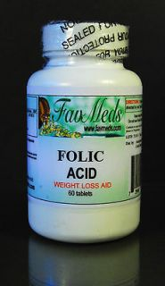 Folic Acid, High Quality blood anemia, cell growth, Made in USA   60