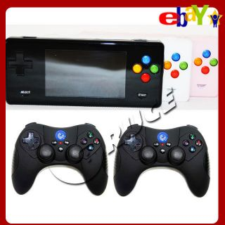 Emulator Game RMVB AVI MP4 Player Console+Two Wireless Controllers