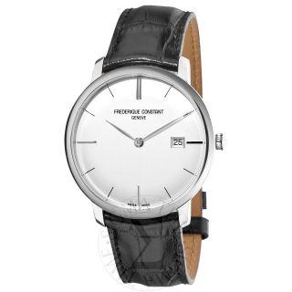 Frederique Constant Mens Slim Line Silver Dial Watch FC306S4S6