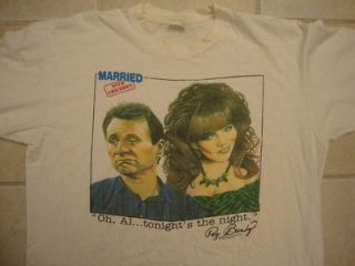 80s 1987 MARRIED WITH CHILDREN al and peg bundy tv show T Shirt XL