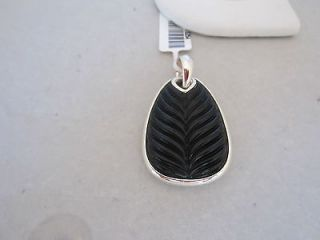 DAVID YURMAN Mens Sterling Silver Large Chevron Black Onyx Pendant nwt