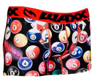 WAXX MENS POOL BALLS BOXER SHORT SUPER SOFT STRETCHY   UNIQUE NO FADE