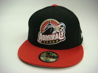 Admirals American Hockey League Black Red White Mesh Custom New Era
