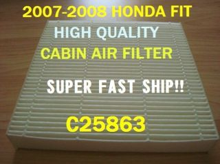 C25863 HONDA FIT 2007 2008 AC CABIN AIR FILTER HIGH QUALITY+ Free Fast