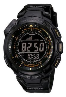 New CASIO PROTREK PATHFINDER SOLAR TRIPLE SENSOR 330f WR COMPASS