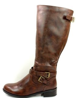 Bio Brown F Leather Equestrian Riding Boots Tall Knee high Soda Shoes