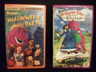 Lot of 2 Barneys VHS Halloween Party(Sealed) & Barneys Rhyme Time