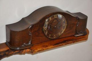 Junghans 1939 WW2 Large Antique Mantle Clock   Unique 25 inch   Art