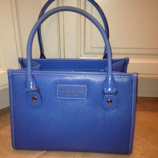Kate Spade Wellesley Blue Leather Quinn Satchel Purse Handbag Classic