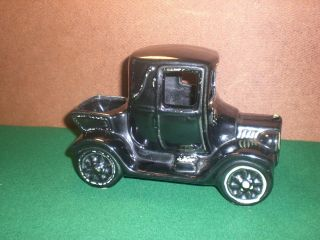 VINTAGE 1950S McCoy Black GREEN Classic Car Ford FLOWER Pot Planter