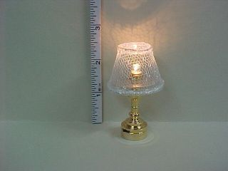 Battery Operated Sparkling Table Lamp T4S Dollhouse Mini