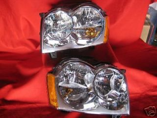 NEW 05 07 JEEP GRAND CHEROKEE HEADLIGHTS HEADLAMPS PAIR SET NEW (Fits