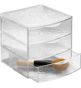 Large Makeup Organizer on Large Clear Acrylic Cosmetic Organizer With Drawers By Interdesign