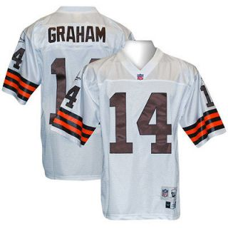 CLEVELAND BROWNS Otto Graham THROWBACK RBK White Jersey M