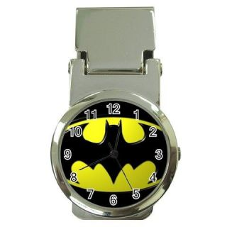 BATMAN LOGO Money Clip Wrist Watch Gift
