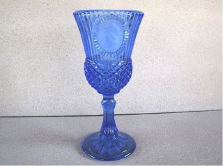 Avon Cobalt blue Fostoria Wine Glass Martha Washington