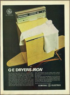 Electric Dryers 1966 print ad / magazine ad, clothes dryer, laundry GE