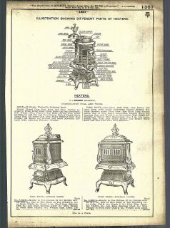 1921   22 AD Simmons Wilson Coal Wood Burning Stove Heaters