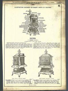1921   22 AD Simmons Wilson Coal Wood Burning Stove Heaters