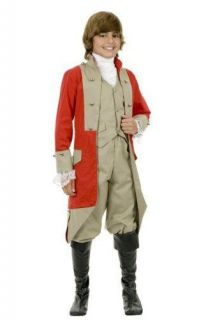 Kids Childs British Red Coat Halloween Holiday Costume Small 6 8 X