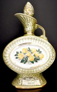 Vintage Jim Beam Executive Series Yellow Roses Decanter Bottle