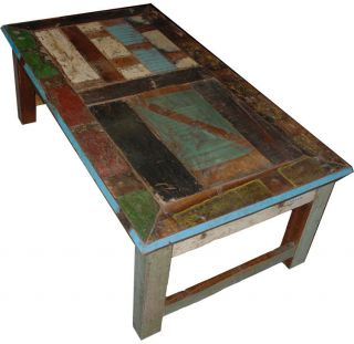 51 Vintage distress multi color coffee table reclaim wood beautiful