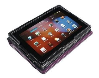 Cover Up BlackBerry PlayBook Tablet Purple Leather Case