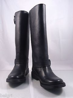 STEVE MADDEN Frencchh women leather riding boots in Black NIB