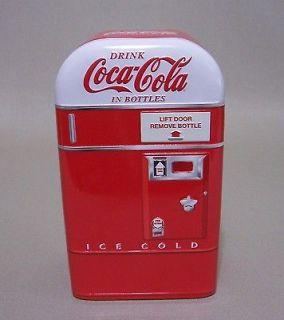 Coke Rounded Vending Machine Shaped Tin Nostalgic Coca Cola Red White