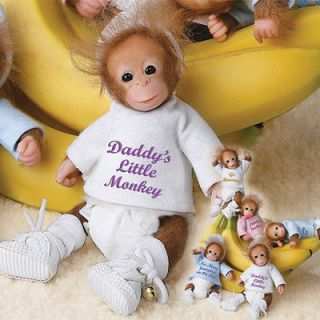 ASHTON DRAKE Daddys Little Monkey MONKEY Baby Doll NEW