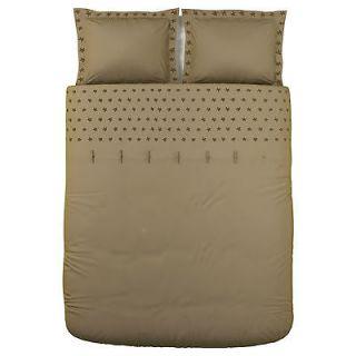 Ikea Tanja Brodyr Duvet Cover Full Queen set, light Brown Beige