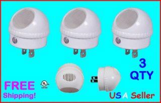 QTY Pack LED Night Light Auto Sensor 360 Degree Swivel Rotation UL