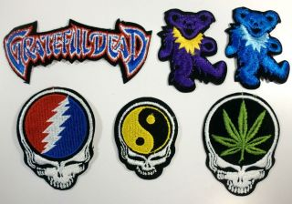 Grateful Dead Patch Collection DANCING BEAR Steal Your Face ying yang