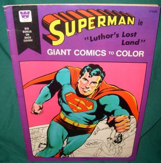 , GIANT COMICS TO COLOR, COLORING BOOK, LUTHORS LOST LAND, 1975